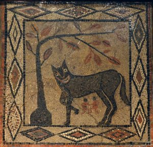 Aldborough she-wolf Romulus Remus 300-400 CE
