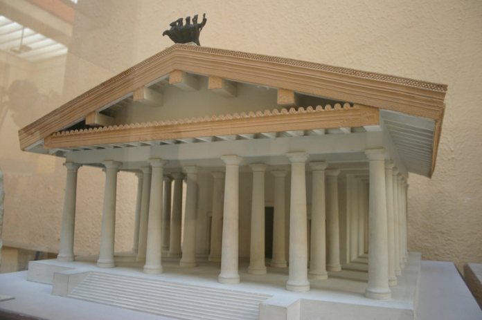 Speculative model of the first Temple of Jupiter Optimus Maximus, 509 BC [wikimedia]