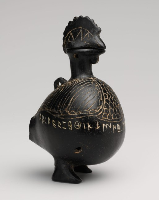 Working Title/Artist: Vase in the shape of a cock Department: Greek & Roman Art Culture/Period/Location: HB/TOA Date Code: 04 Working Date: second half of 7th century B.C. photography by mma, Digital File retouched by film and media (jnc) 3_4_10