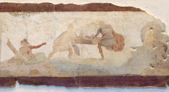 Close up From the tomb of the Statilii on the Esquiline Romulus and Remus abandoned in the wilderness.jpeg