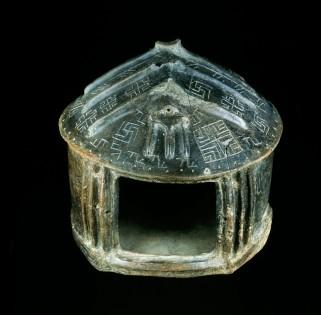 From Castel Gandolfo, Montecucco area, tomb B, excavations of 1816-1817 900-850 B.C., beginning of Latium Phase IIA Ceramic mix, height 27 cm ; base 29 cm x 30 cm Cat. 15407
