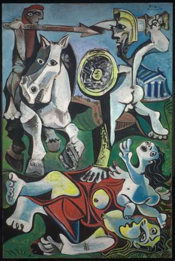 Picasso MFA rape of sabine women