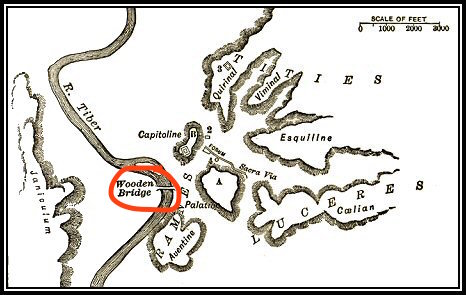 position of the pons sublicia Morey 1901 forumromanum.org.jpg
