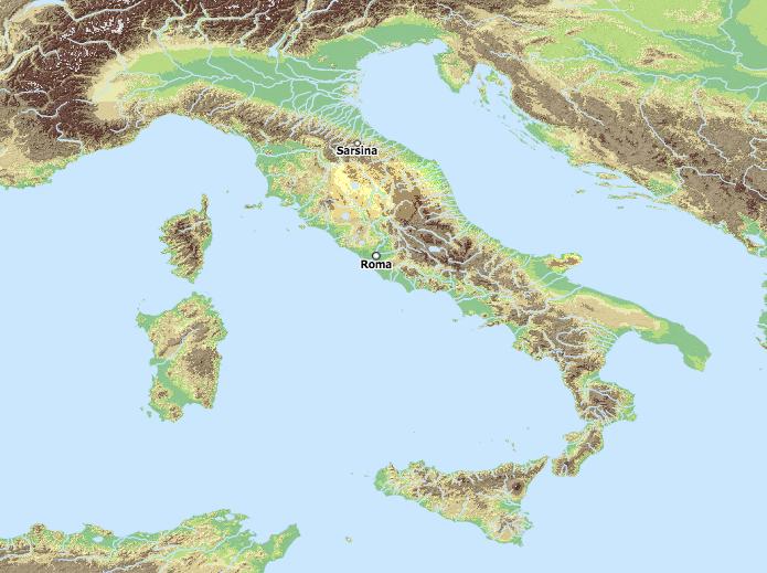 Sarsina Plautus next to Rome
