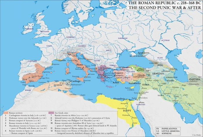 Roman Republic 218-168 BCE 2nd punic war + after