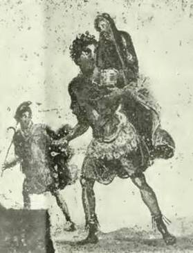Aeneas, Anchises, Aeneas Pompeii IX 13 5