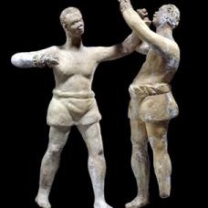 3) terracotta boxers