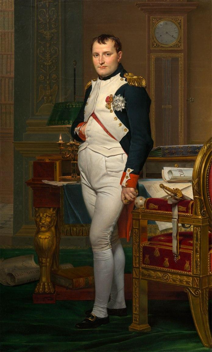 Emperor-Napoleon-in-His-Study-canvas-Tuileries-1812