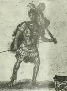 IX.13.5 Pompeii. 1913. Painting of Romulus carrying a trophaeon.