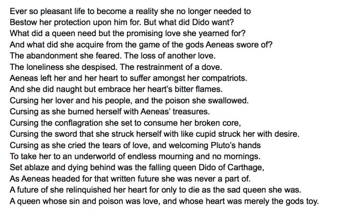 Tareq Alkhudari Dido the Falling Queen of Carthage. 2