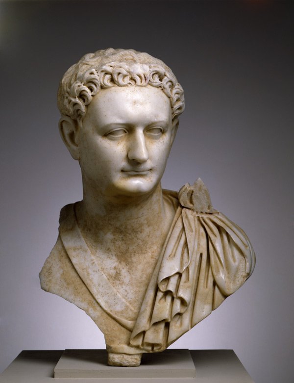 Portrait bust of Emperor Domitian, ca. 90 CE. Ancient Rome, from Italy. Parian marble; H- 23 7:16 in. (59.5 cm); W- 15 7:8 in. (40.3). The Toledo Museum of Art, Toledo, Ohio (1990.30).jpg